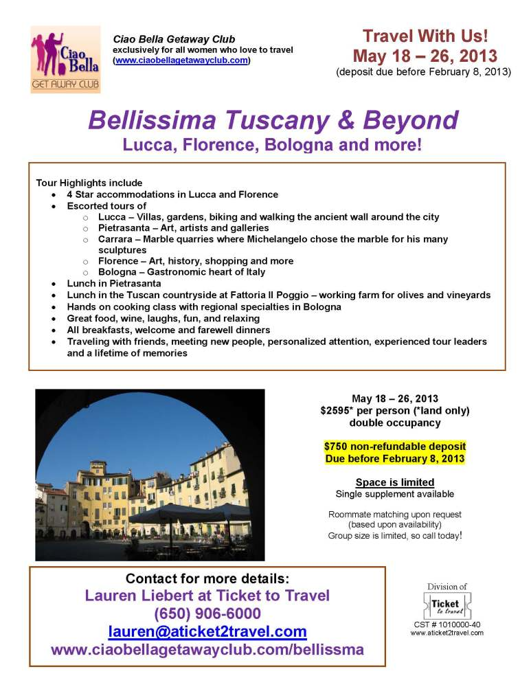 Italy Trip - For Women Only!