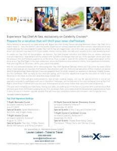 Top Chef Flyer for Celebrity